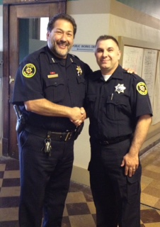 Picture of Chief Acosta and Officer Wagenius