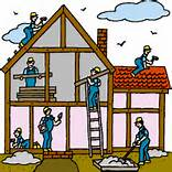 picture of workers building a house