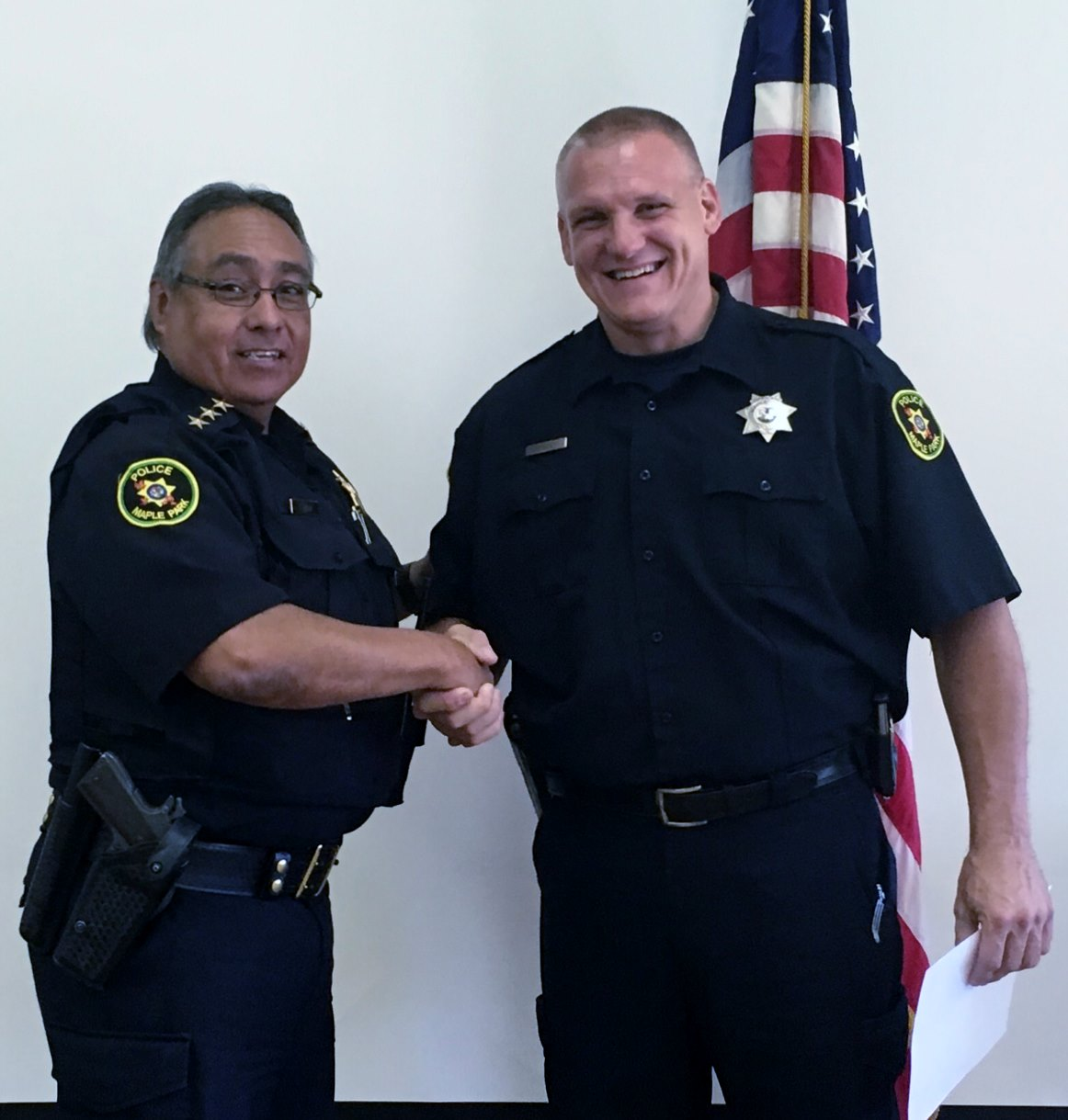 Picture of Officer Shelly & Chief Ayala
