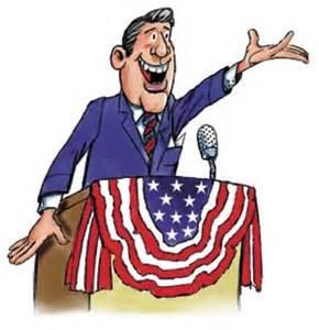 Candidate at Podium