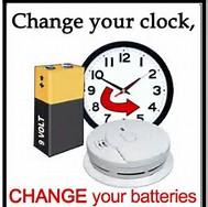 Change your clock change your batteries clip art