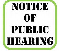 Notice of Public Hearing Clip Art