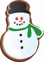 Christmas Cookie Clip Art (snow man)