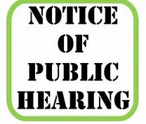 Notice of Public Hearing Clip Art
