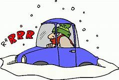 Winter Driving Clip Art