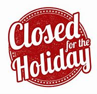 Closed for the Holiday Clip Art