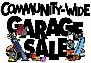 Community-wide garage sale clip cart