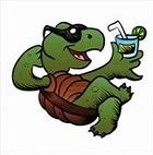 Turtle with a drink Clip Art
