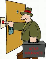 Solicitors - Man Ringing Doorbell clip art